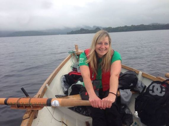 Ali rowing with Port Seton at Loch Lomond