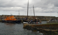 The Reaper leaving Portsoy