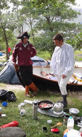 Jacobites cooking breackfast