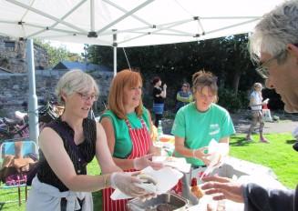 Gillian, Mhairi & Emily selling their wares