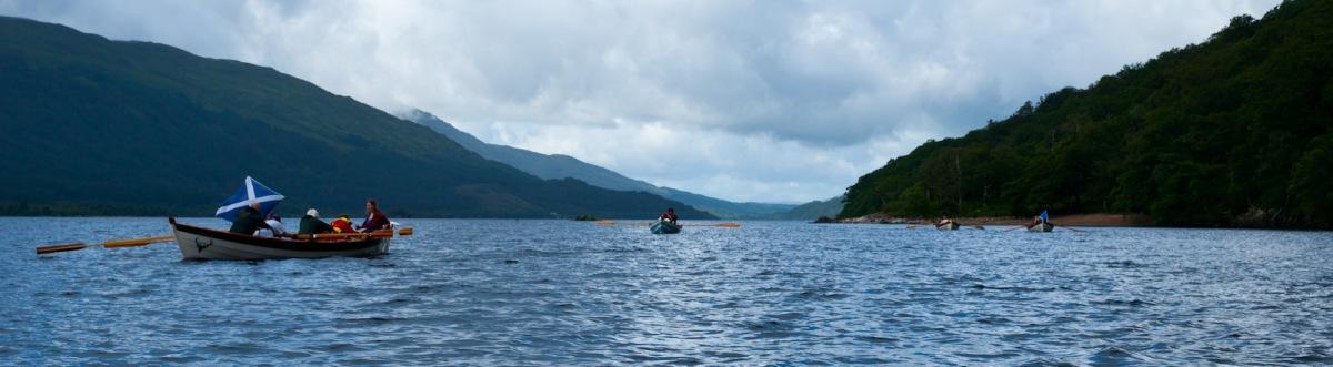 Rowing up Loch Shiel